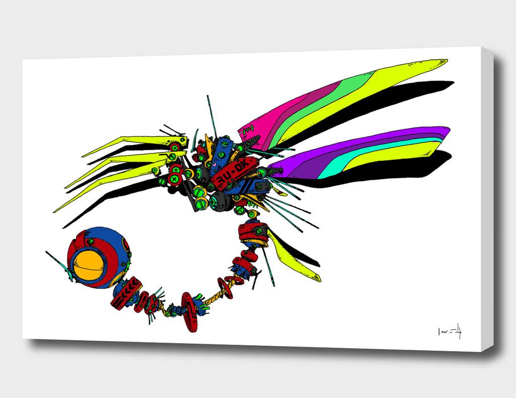 Cyberpunk Dragonfly
