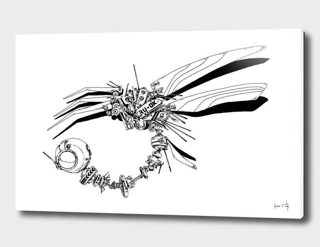 Cyberpunk Dragonfly - line
