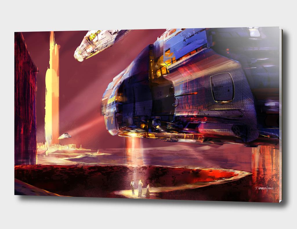 2017 Digital concept paint sketch