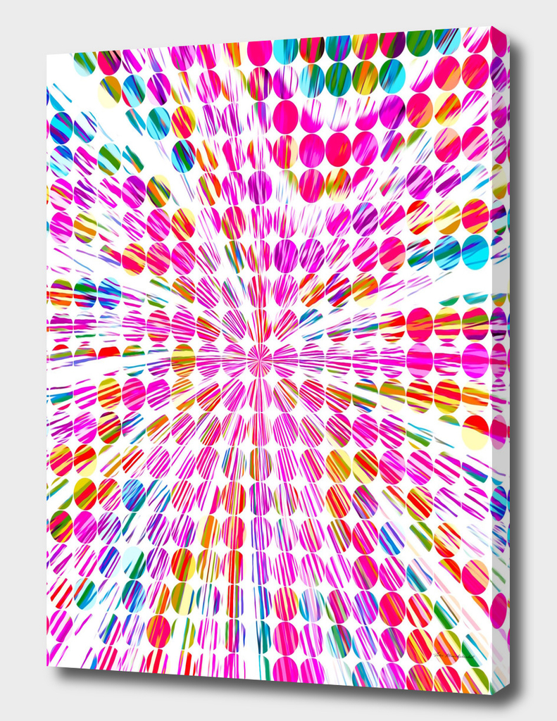 pink blue and yellow circle pattern abstract background