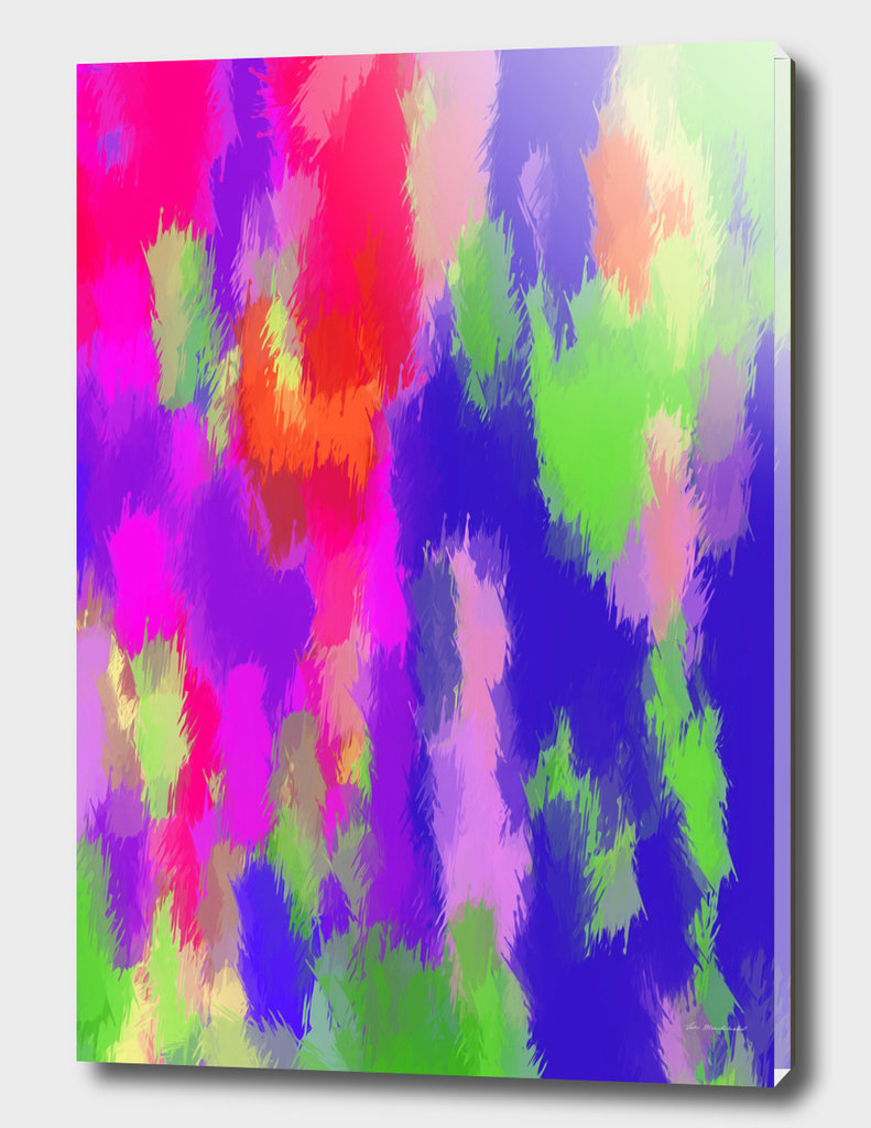 pink purple blue green and orange painting texture