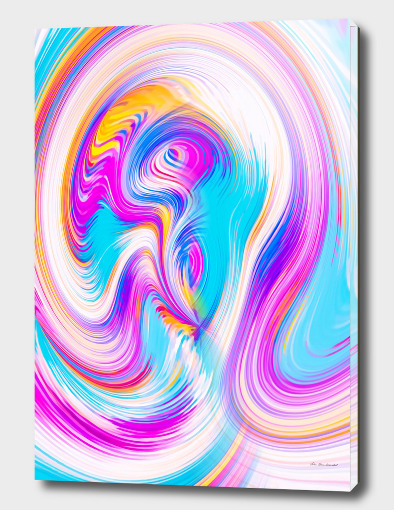 psychedelic graffiti abstract pattern in pink blue yellow