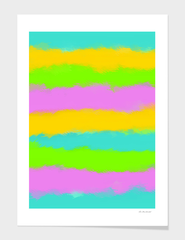 blue yellow pink and blue painting abstract background
