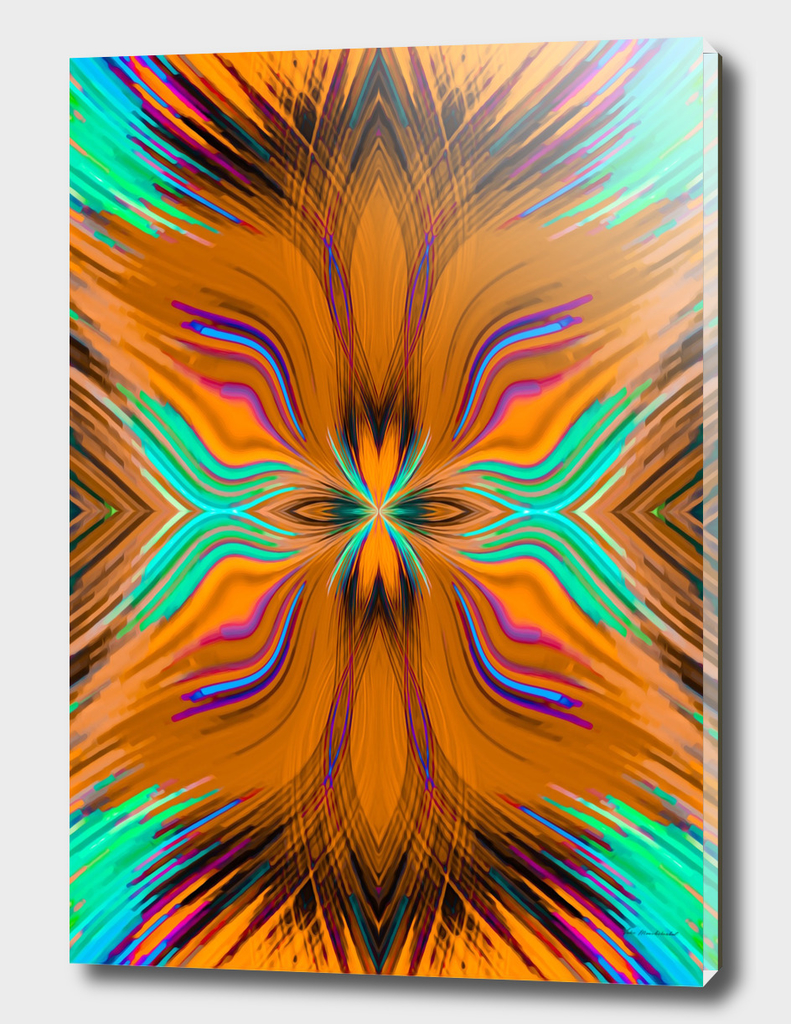 psychedelic geometric graffiti abstract in brown and green
