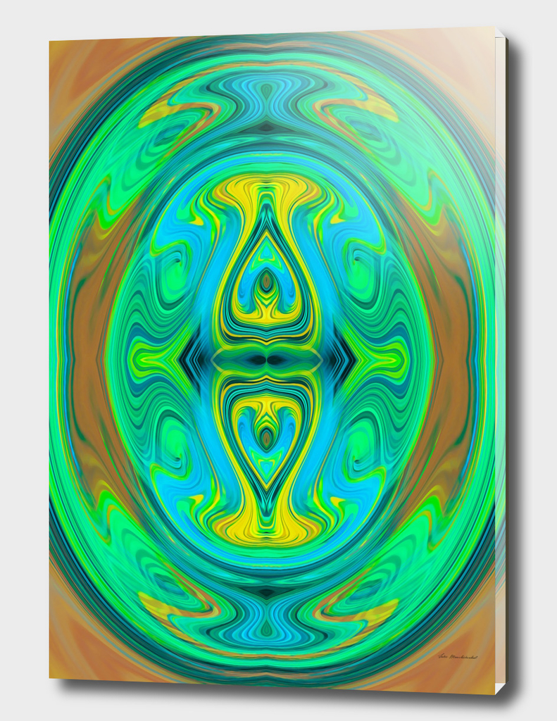 green yellow and brown spiral pattern