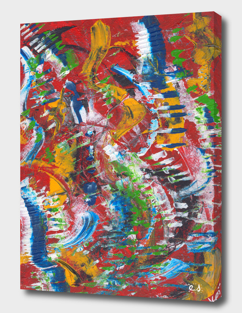 Abstract Expressionist in Red