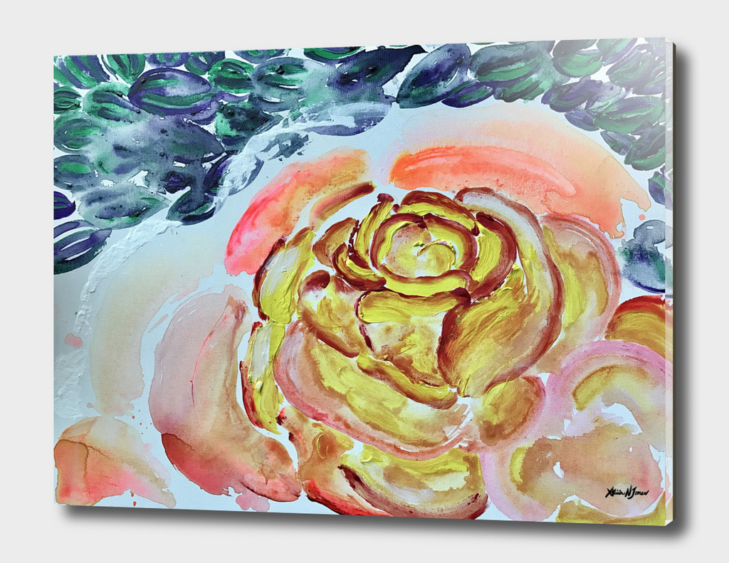 Yellow Greenery Rose Floral