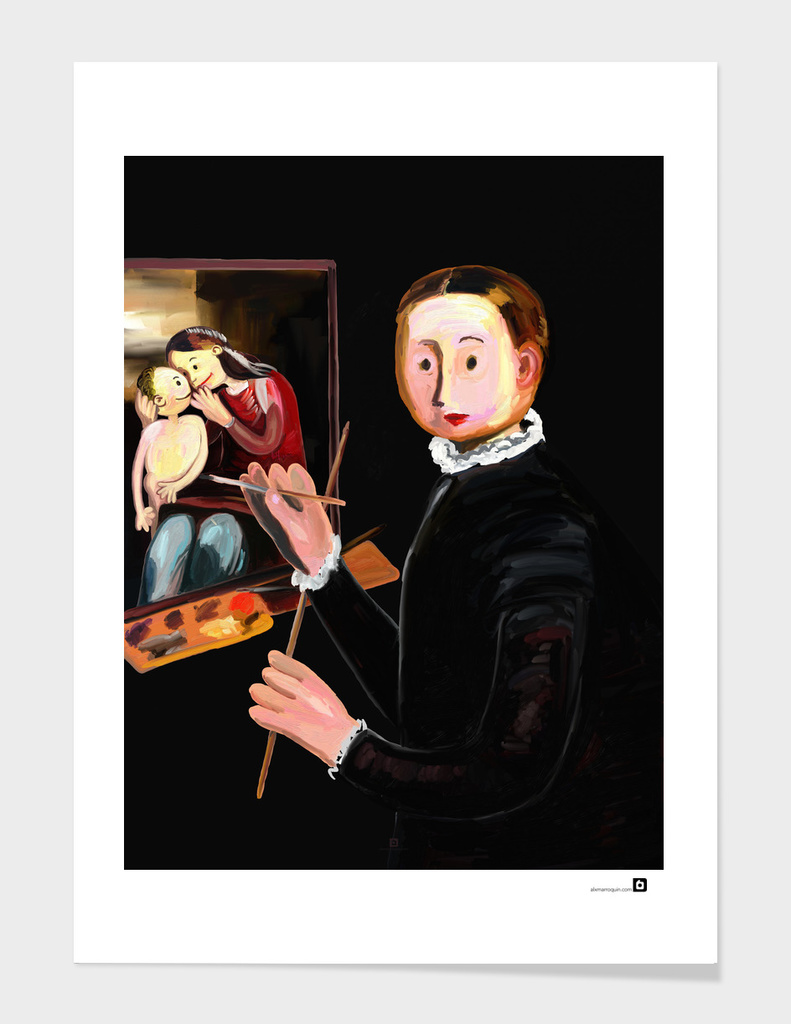 The Small Sofonisba Anguissola at the Easel