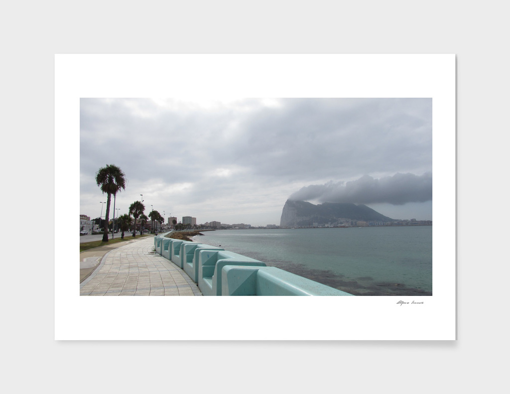 Cloudy gibraltar