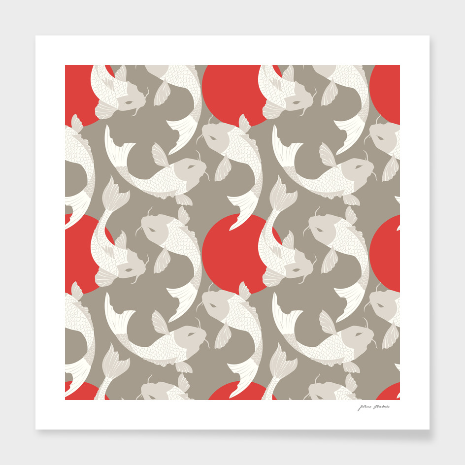 Koi fish pattern 002