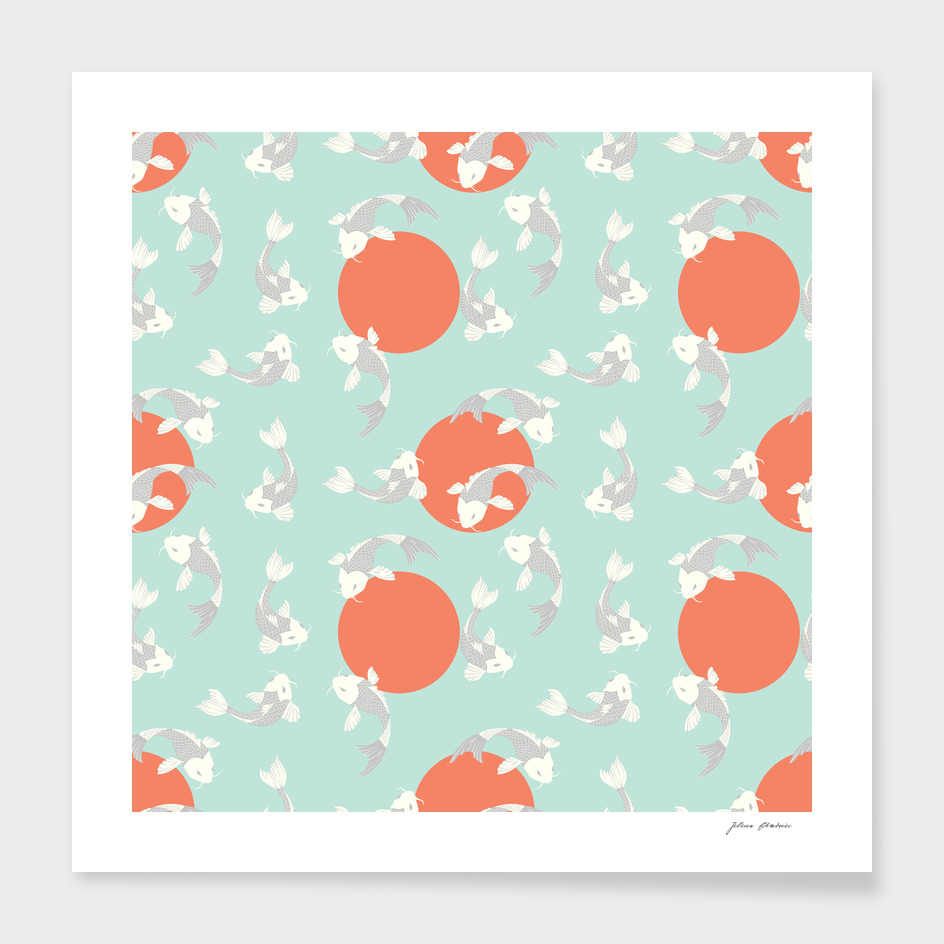 Koi fish pattern 005