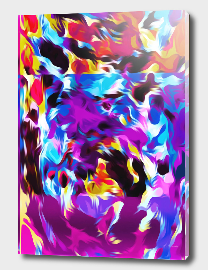 purple pink blue orange yellow and red spiral painting
