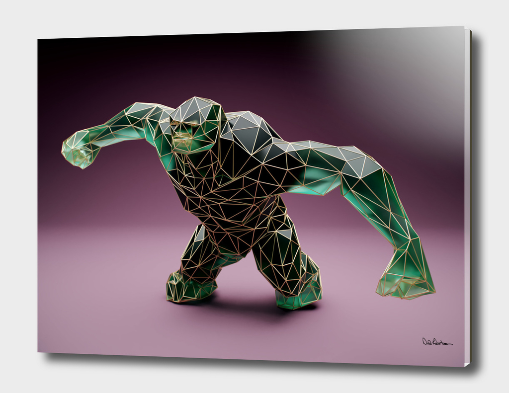 023 Low Poly Green Troll