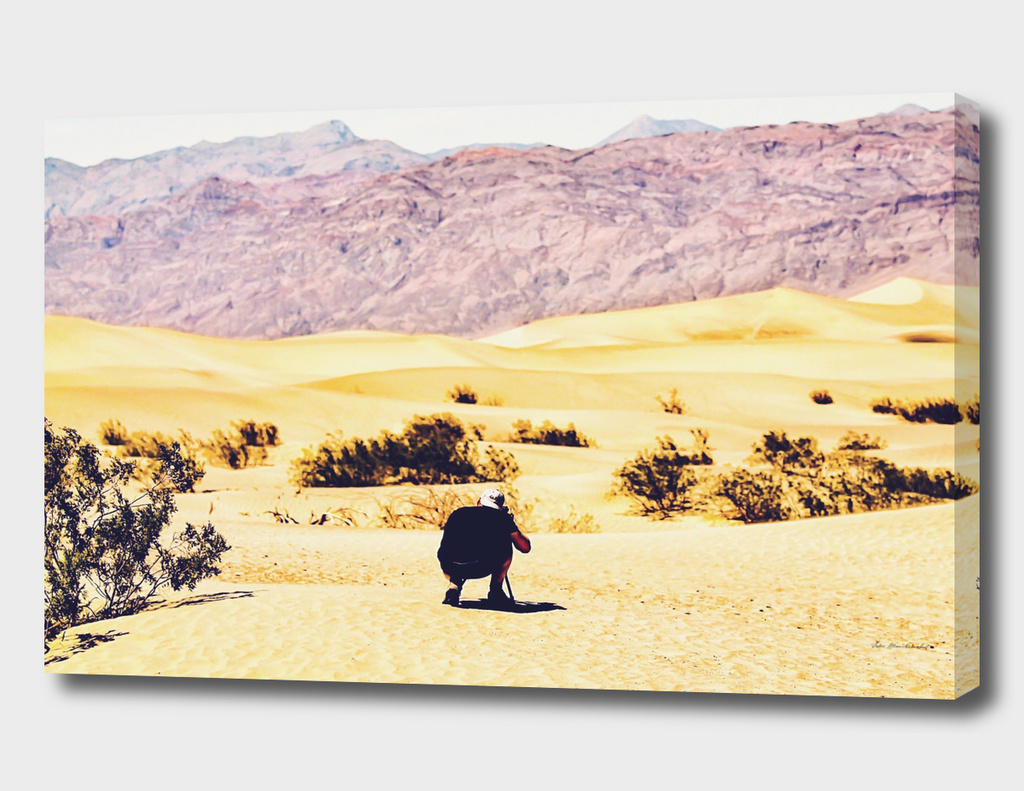At Death Valley national park, USA in summer