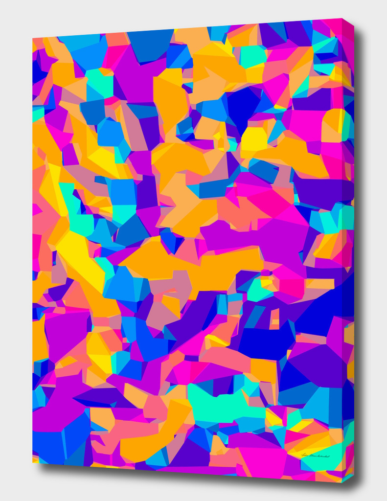 colorful geometric graffiti abstract background