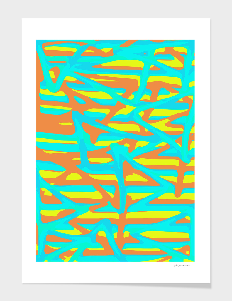 green blue orange yellow painting abstract background
