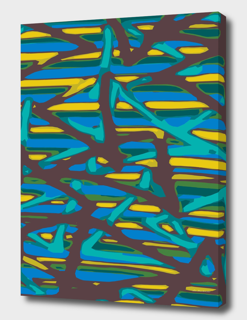 blue yellow green brown painting abstract background