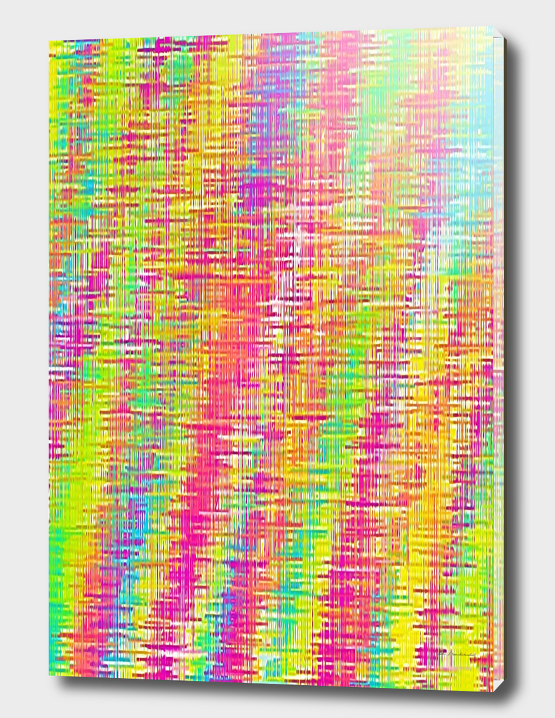psychedelic graffiti painting abstract in pink yellow green