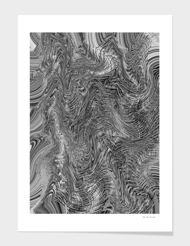 black and white psychedelic graffiti line drawing abstract