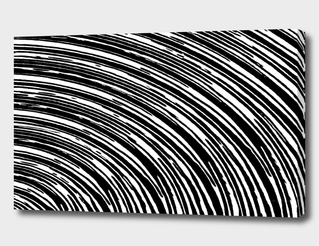 black and white circle graffiti line pattern abstract