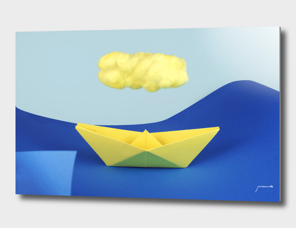 The yellow cloud over the yellow ship