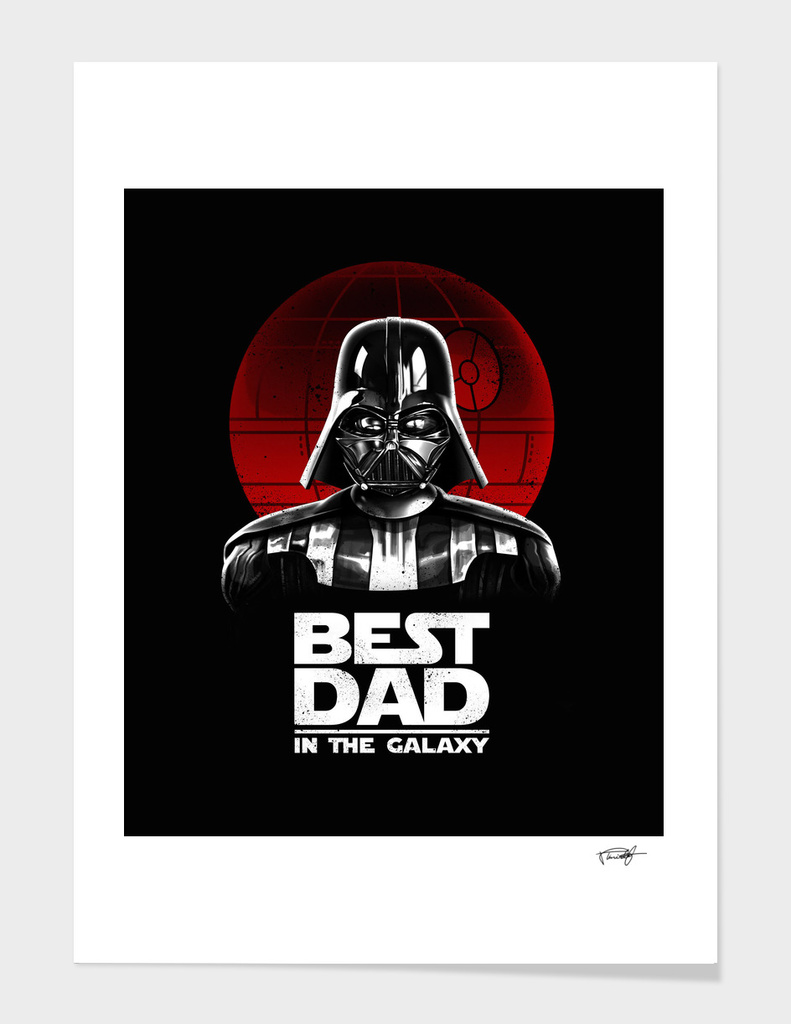 b303200aa Best Dad in the Galaxy» Art Print by Vincent Trinidad | Curioos