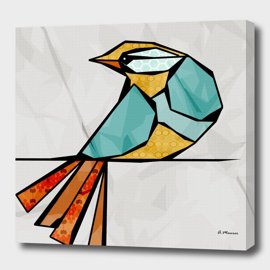 Modern Digital Pop Art Bird