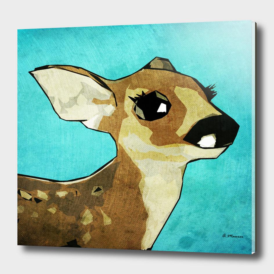 Modern Pop Art Digital Deer