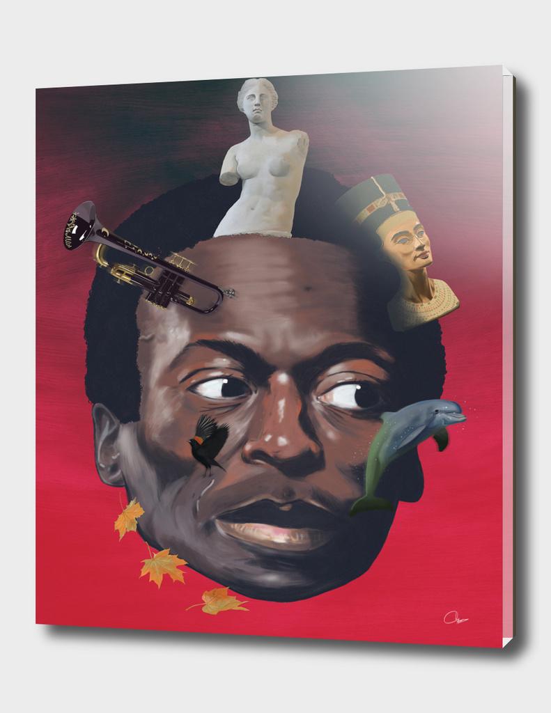 Miles totems around his head