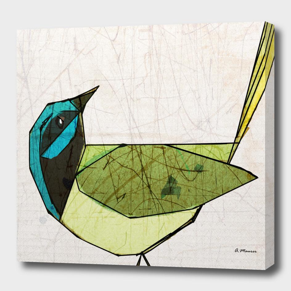 Modern Pop Art Bird in Green