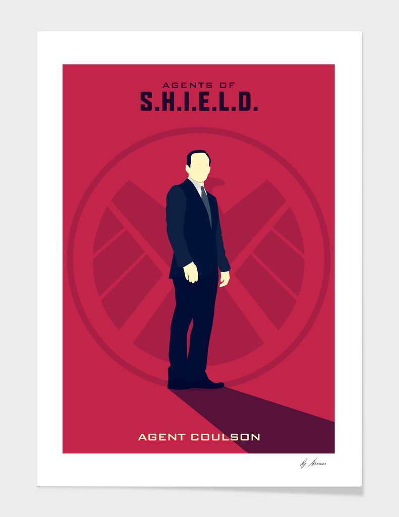 Pink S.H.I.E.L.D: Agent Coulson