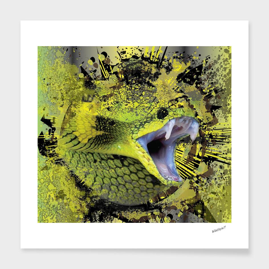 Venomous Tree Snake Abstract
