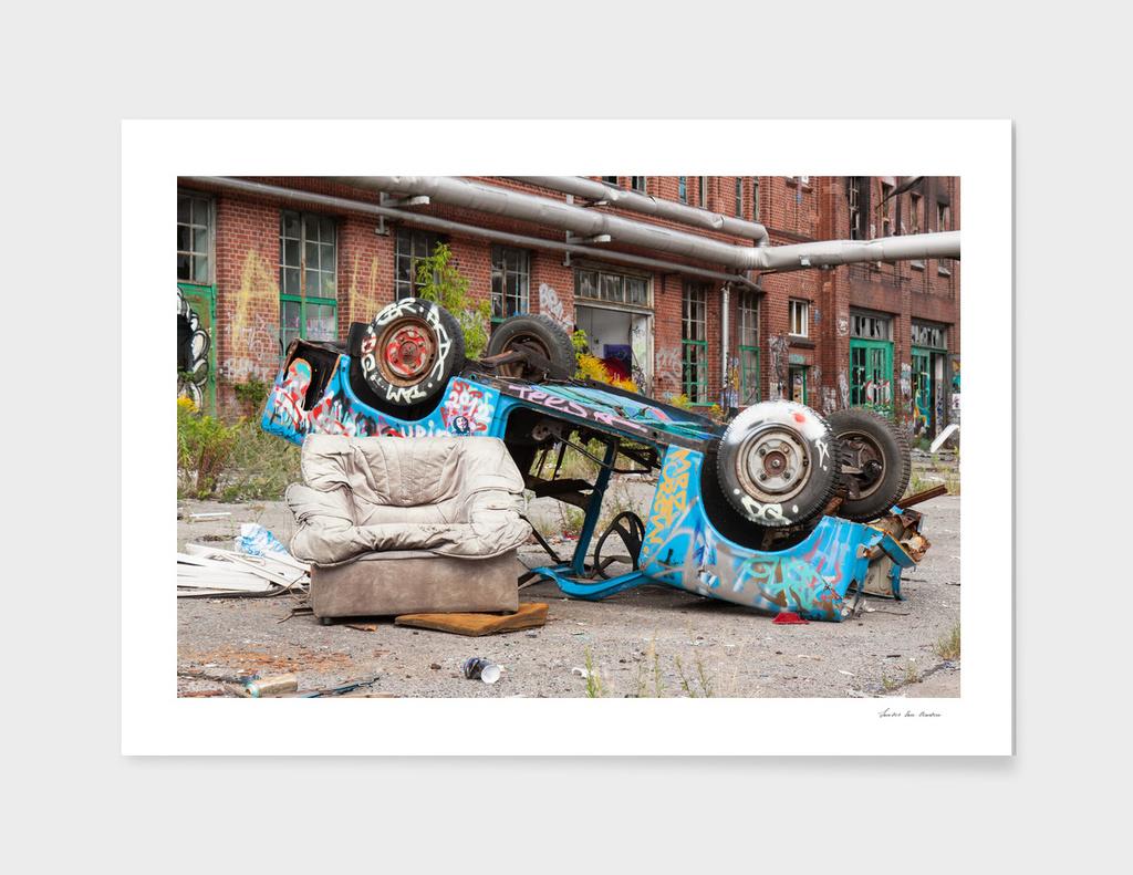 Berlin abandoned car
