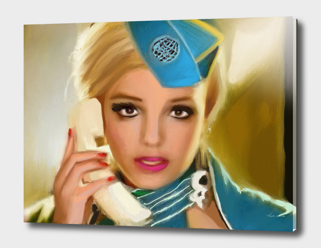 BRITNEY SPEARS FLIGHT ATTENDANT