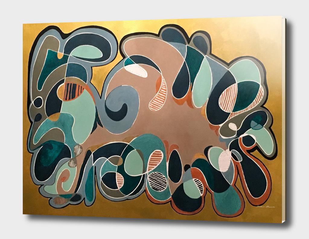 Retro Fifties Pattern Gold