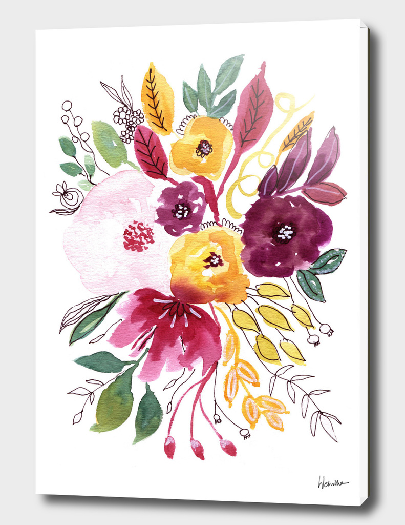Watercolor Flowers 4
