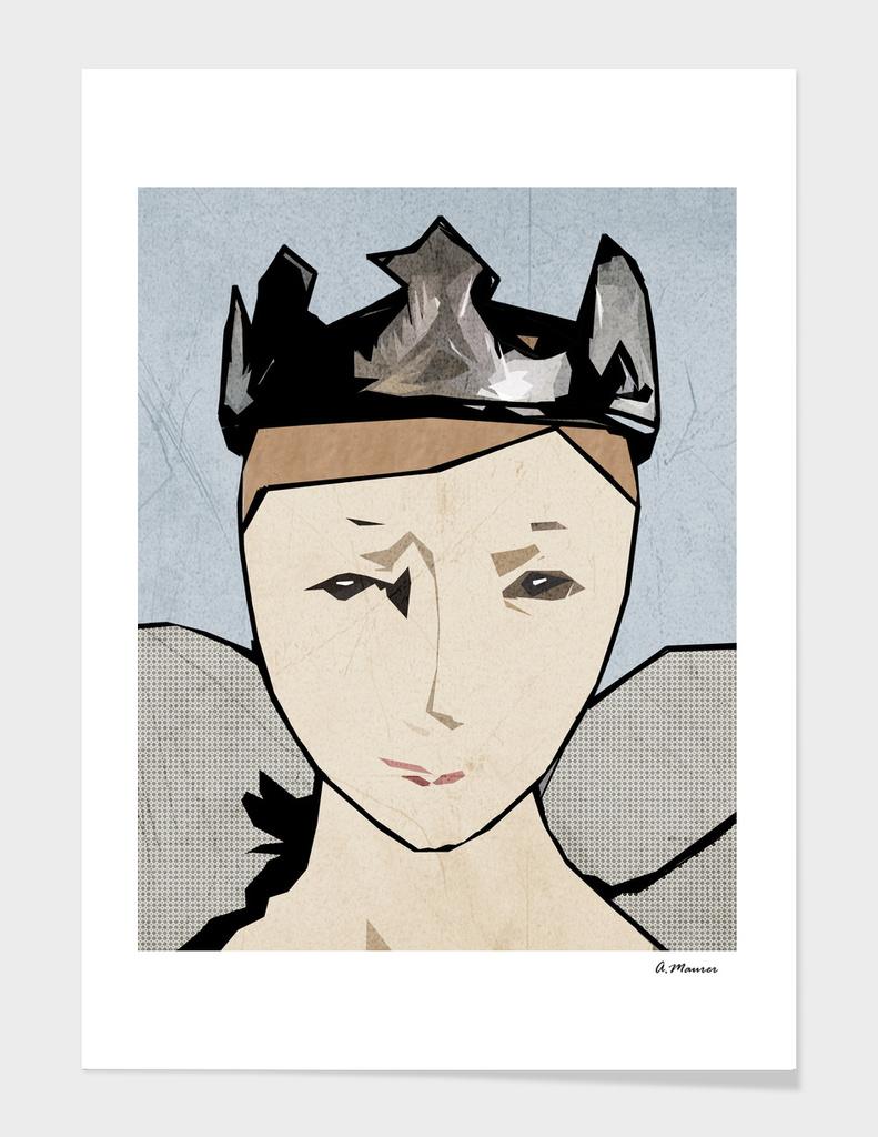 Modern Digital Pop Art Angel Queen