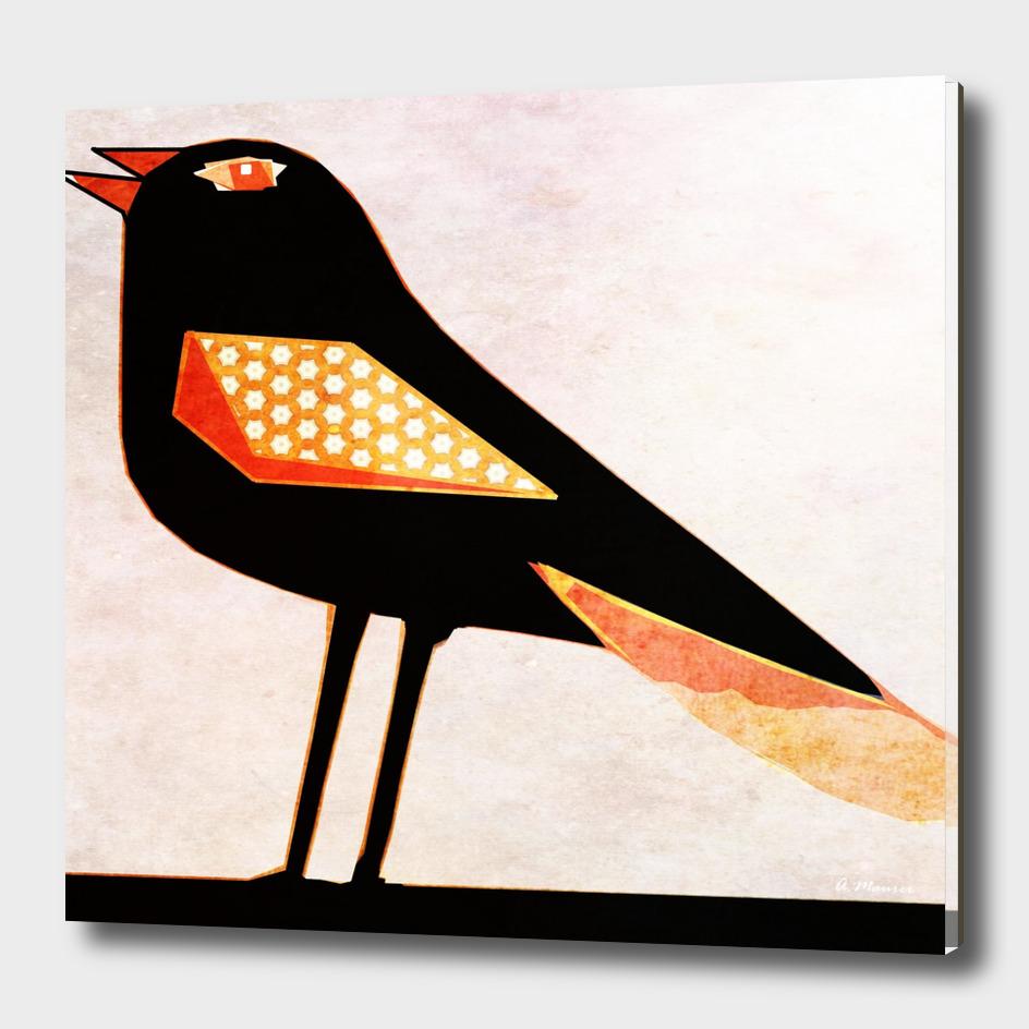 Modern Digital Pop Art Blackbird