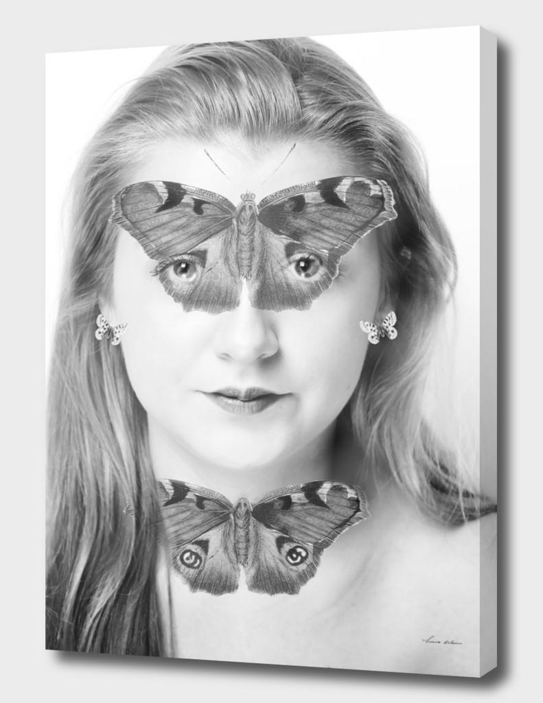 woman butterfly mask