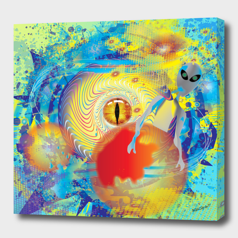 Alien Eyes Abstract