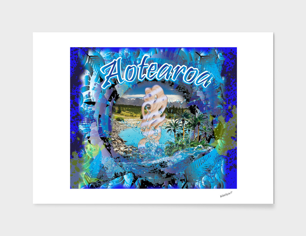 New Zealand Aotearoa Tribal 3D Digital Design