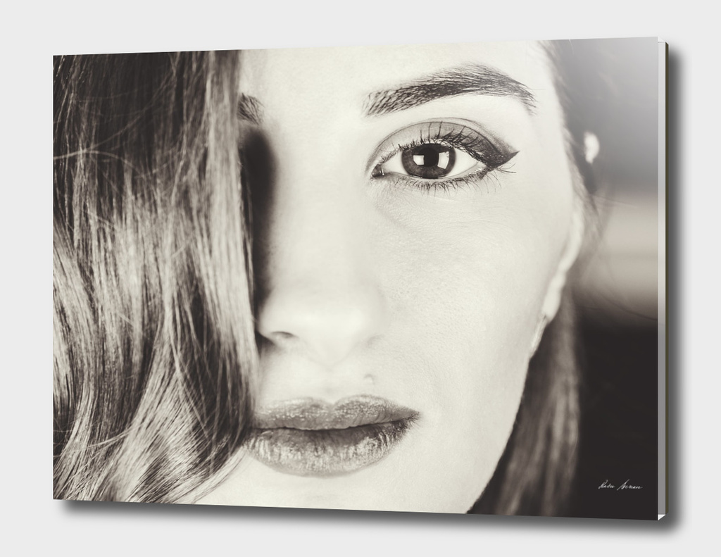Black And White Portrait Of Beautiful Classy Girl