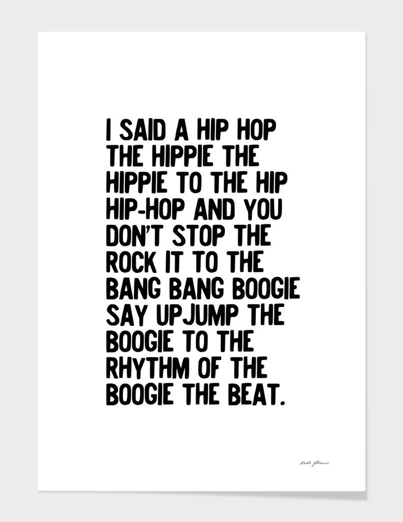 RAPPERS DELIGHT SUGARHILL GANG HIP HOP LYRIC MUSIC ART