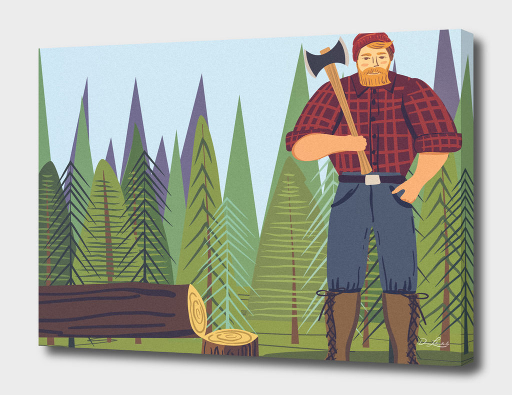 Paul Bunyan Standing In The forest