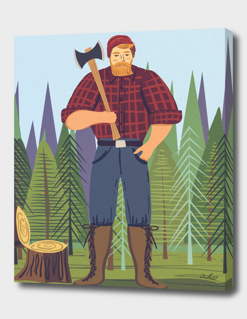 Paul Bunyan  In The Woods