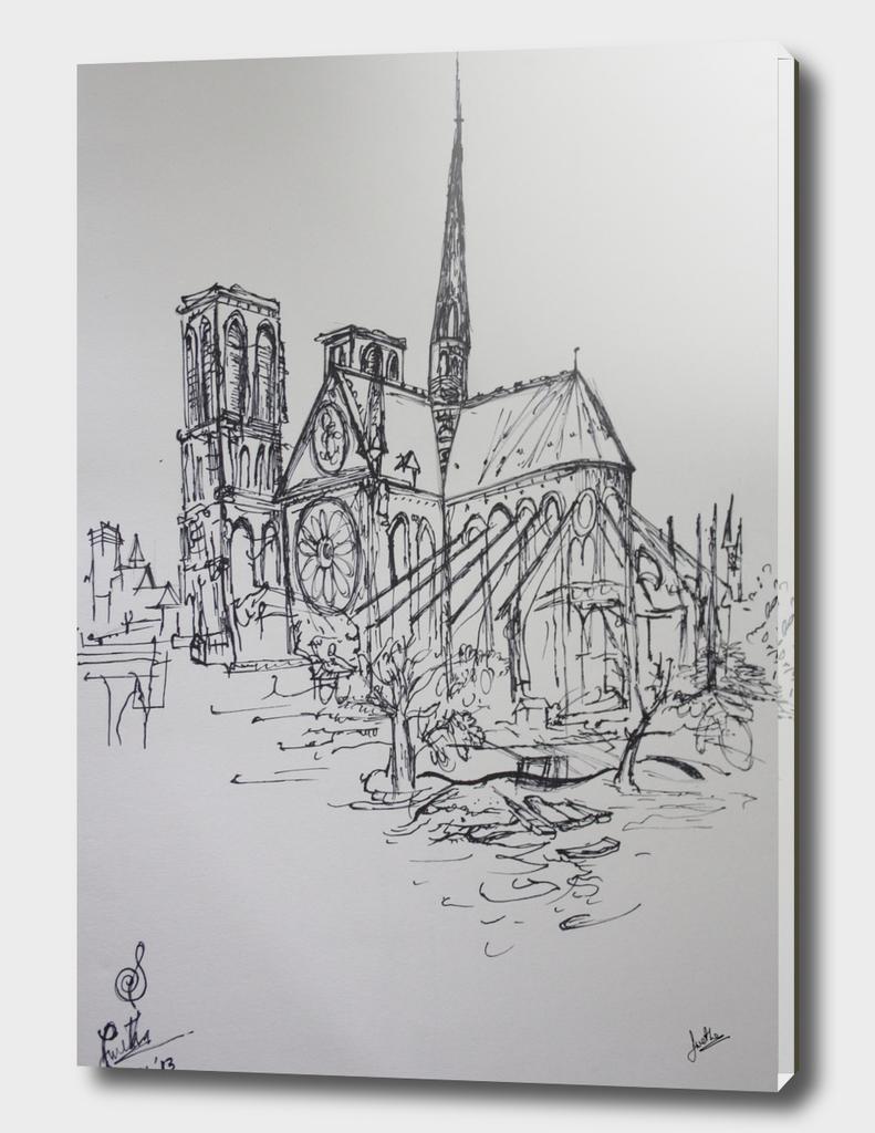 Notre Dame Illustration