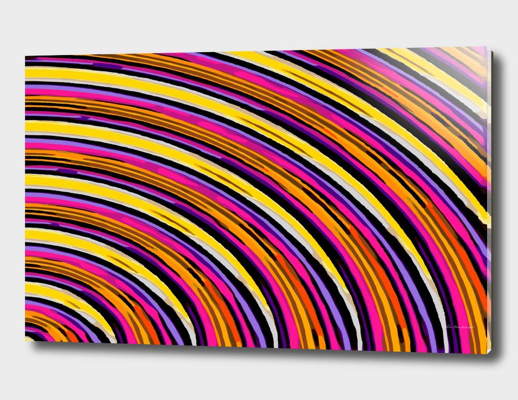 pink purple brown yellow orange circle line pattern