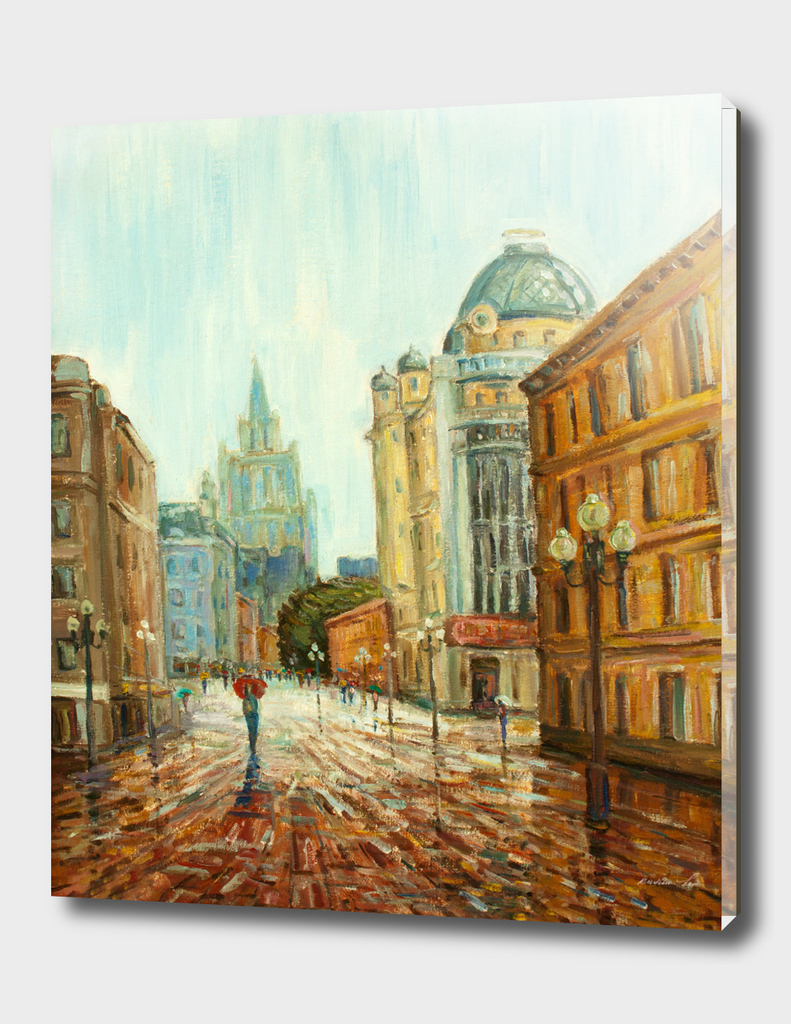 arbat  street Moscow - my red umbrella