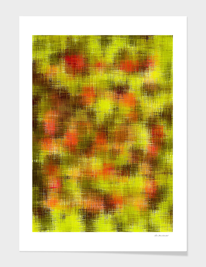 vintage painting texture abstract in yellow brown orange