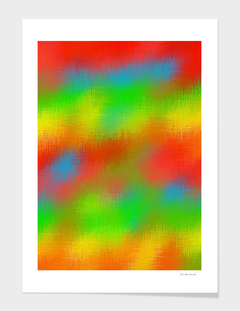 colorful painting texture abstract in red yellow green blue